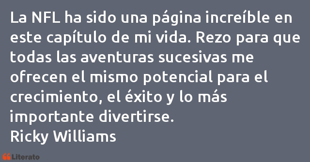 Frases de Ricky Williams