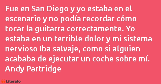 Frases de Andy Partridge