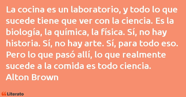 Frases de Alton Brown