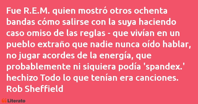 Frases de Rob Sheffield