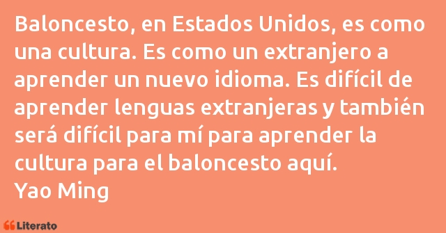Frases de Yao Ming