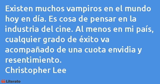 Frases de Christopher Lee