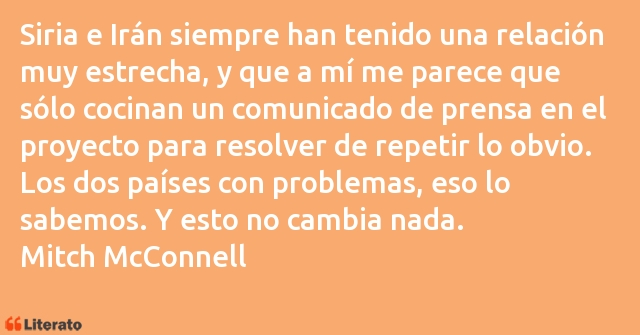 Frases de Mitch McConnell