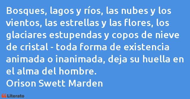 Orison Swett Marden Bosques Lagos Y Ríos Las Nu
