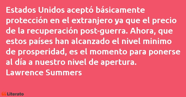 Frases de Lawrence Summers