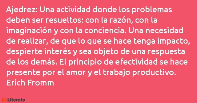 Erich Fromm Ajedrez Una Actividad Donde L