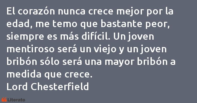 Frases de Lord Chesterfield