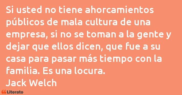 Jack Welch Si Usted No Tiene Ahorcamiento