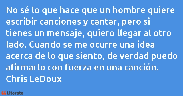 Frases de Chris LeDoux