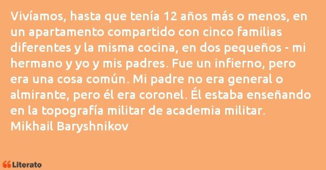 Mikhail Baryshnikov Vivíamos Hasta Que Tenía 12