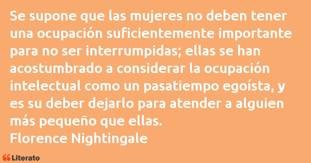 Frases de Florence Nightingale