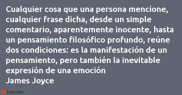 James Joyce Cualquier Cosa Que Una Persona