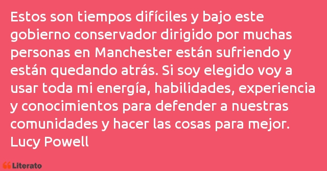 Frases de Lucy Powell