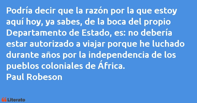 Frases de Paul Robeson
