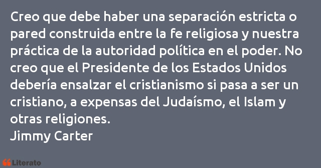 Frases de Jimmy Carter