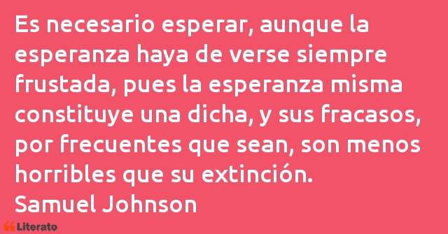Frases de Samuel Johnson