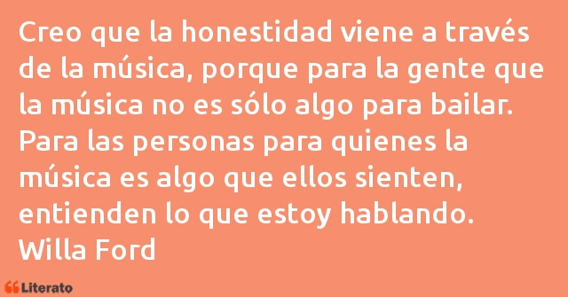 Frases de Willa Ford