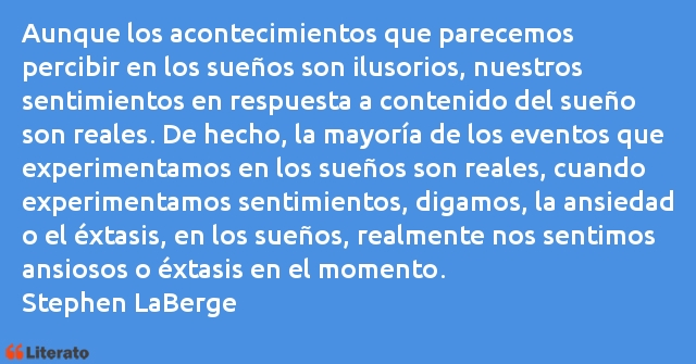 Frases de Stephen LaBerge