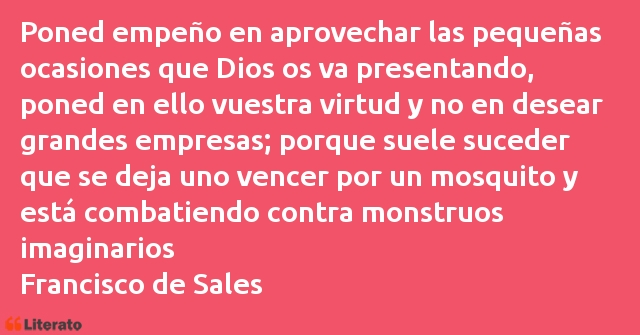 Frases de Francisco de Sales
