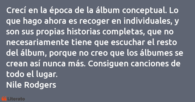 Frases de Nile Rodgers