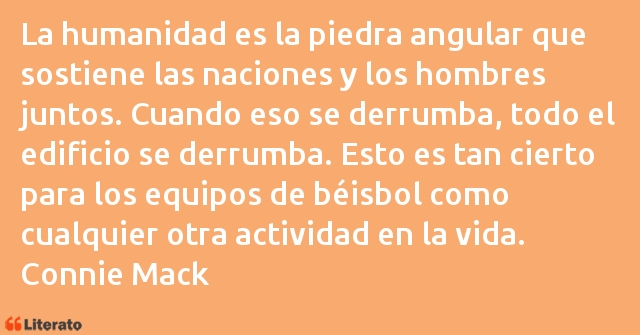 Frases de Connie Mack
