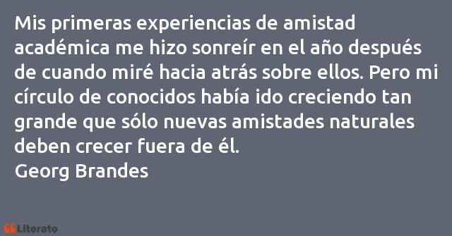 Georg Brandes Mis Primeras Experiencias De A