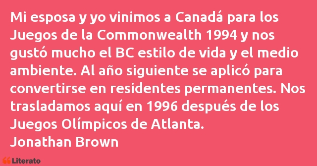 Frases de Jonathan Brown