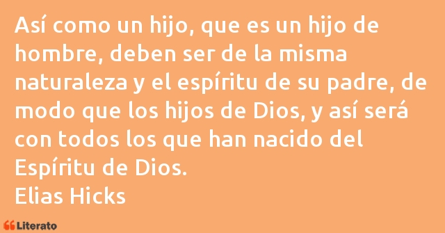 Frases de Elias Hicks