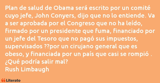 Frases de Rush Limbaugh