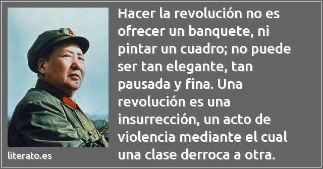 Mao Tse Tung Hacer La Revolución No Es Ofr