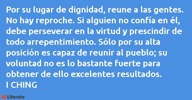 Frases de I CHING