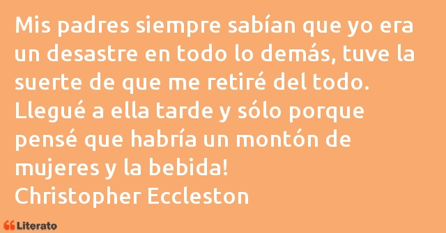 Frases de Christopher Eccleston