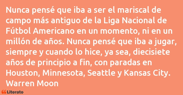 Frases de Warren Moon