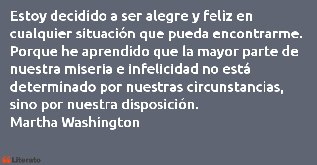 Frases de Martha Washington