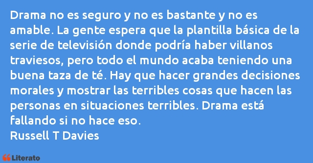 Frases de Russell T Davies