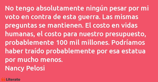 Frases de Nancy Pelosi
