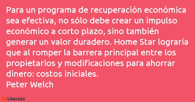 Frases de Peter Welch