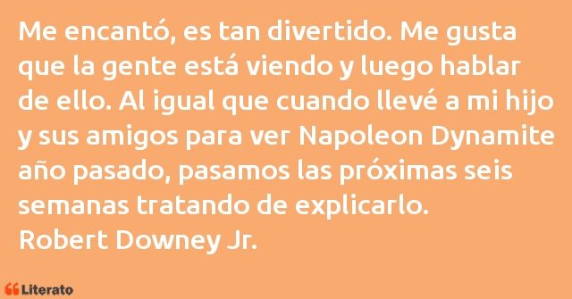 Frases de Robert Downey Jr.
