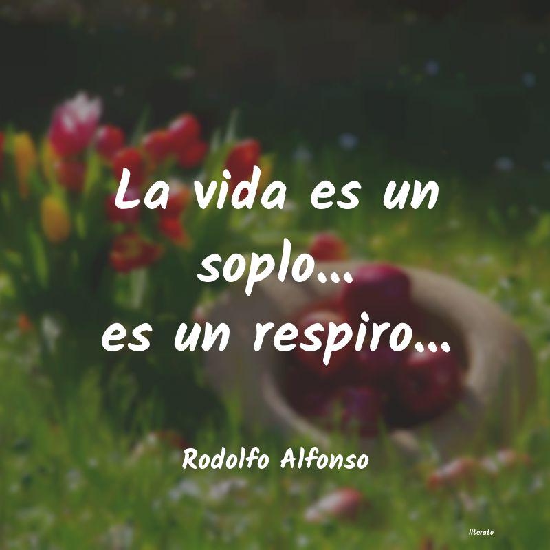 Rodolfo Alfonso La Vida Es Un Soplo Es Un R