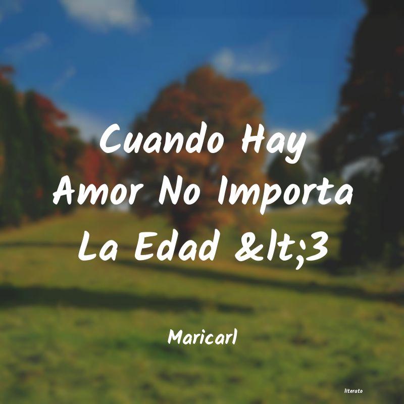 Maricarl Cuando Hay Amor No Importa La