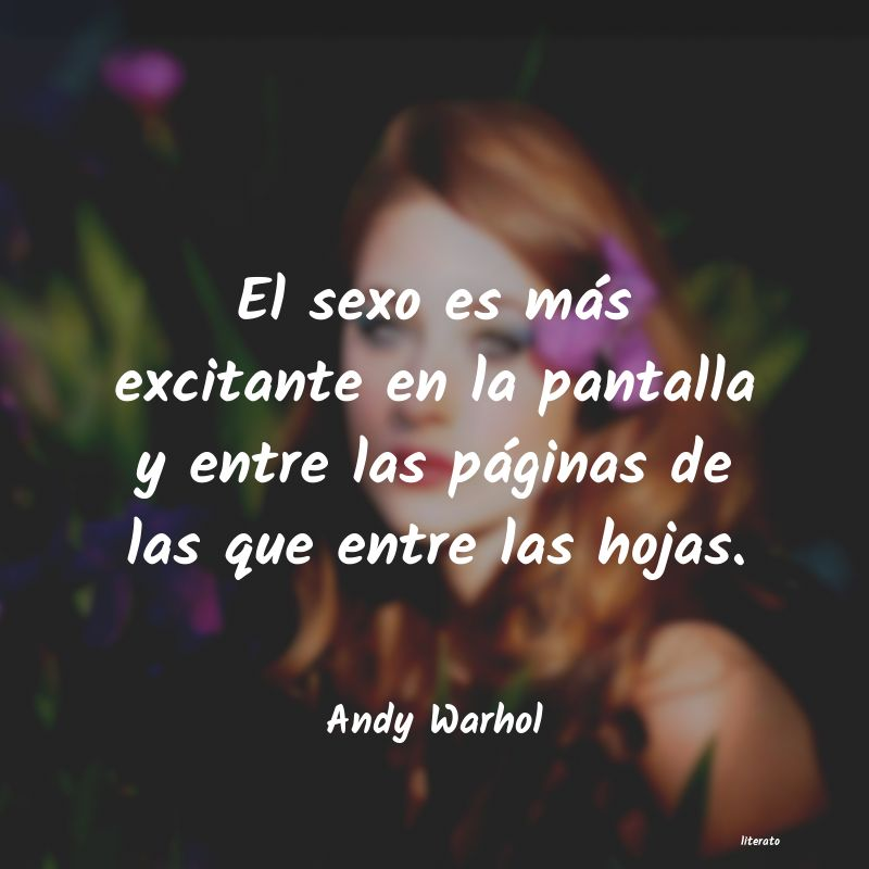 Frases de Andy Warhol