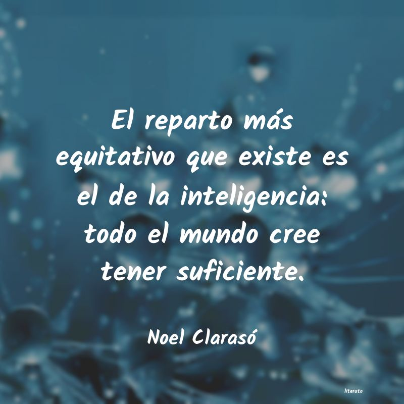 Noel Clarasó: El reparto más equitativo que