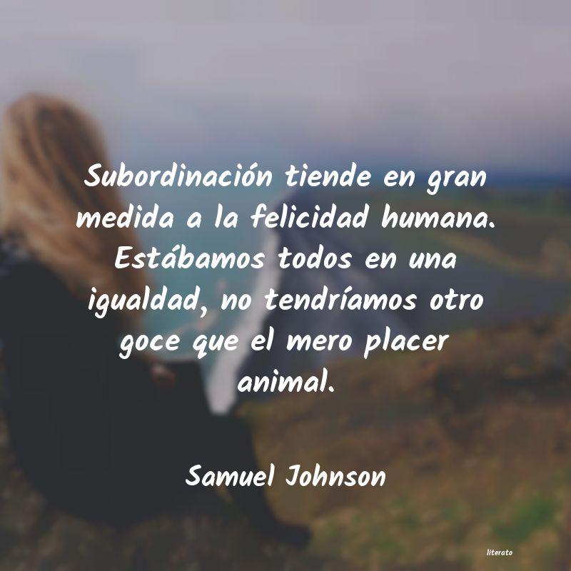 Samuel Johnson Subordinación Tiende En Gran