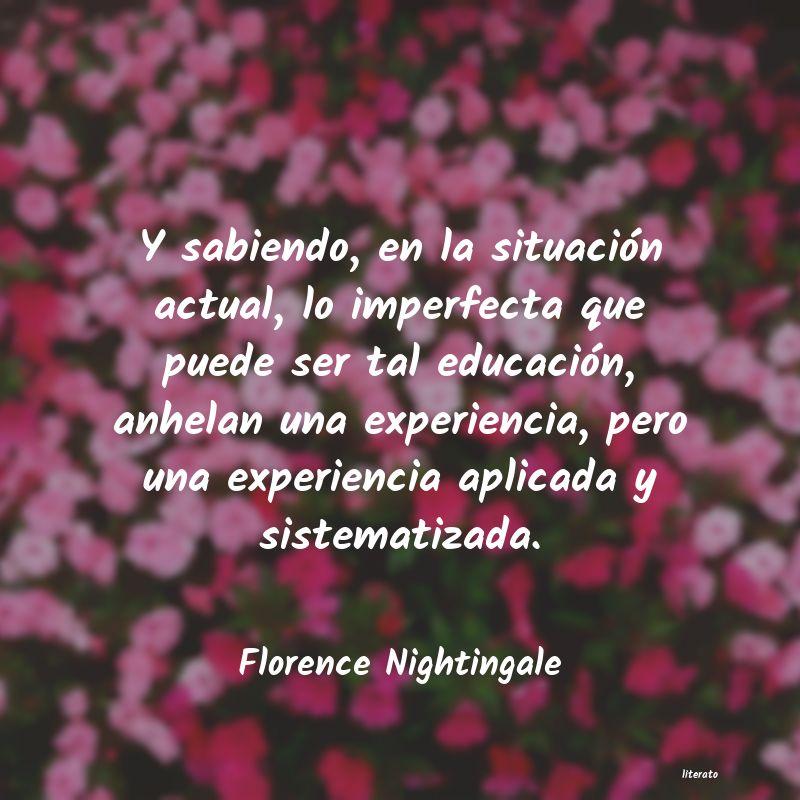 Florence Nightingale Y Sabiendo En La Situación A