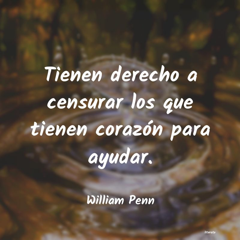 Frases de William Penn