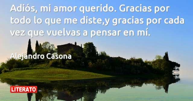 Alejandro Casona Adios Mi Amor Querido Gracias Por Tod