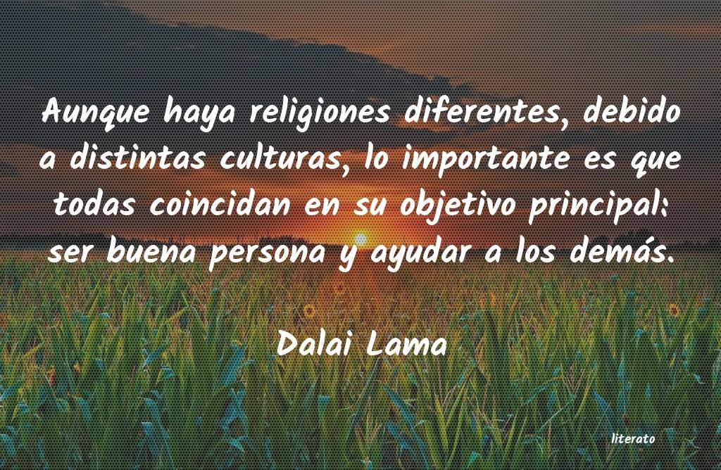 Dalai Lama Aunque Haya Religiones Diferen