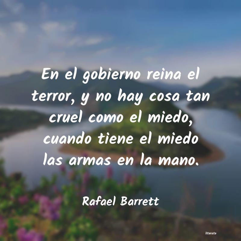 Rafael Barrett En El Gobierno Reina El Terror