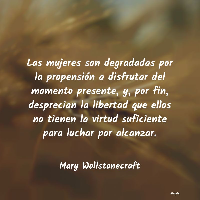 Frases de Mary Wollstonecraft