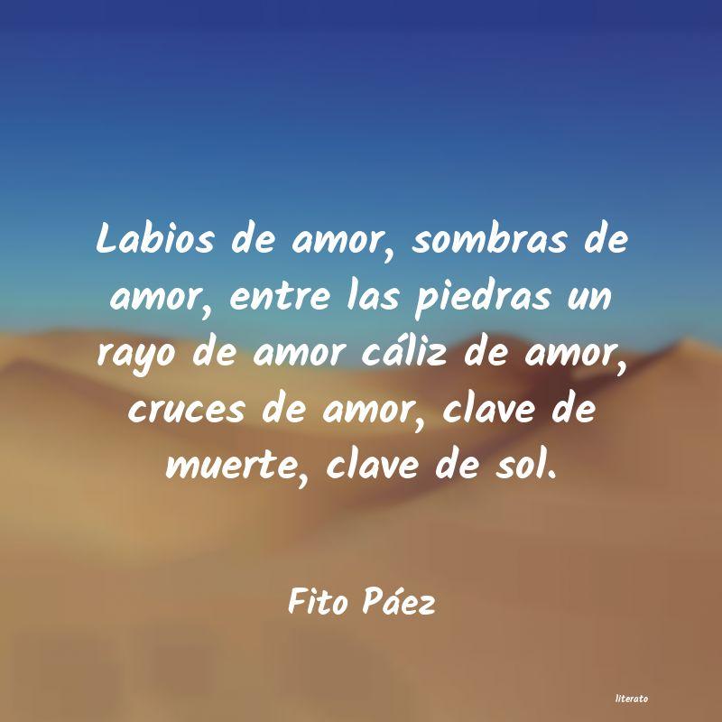 Fito Páez Labios De Amor Sombras De Amo